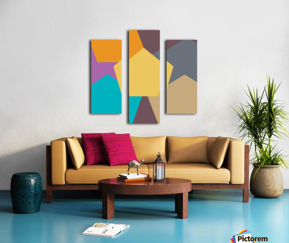 COLORFUL HEXAGON Pattern Canvas print