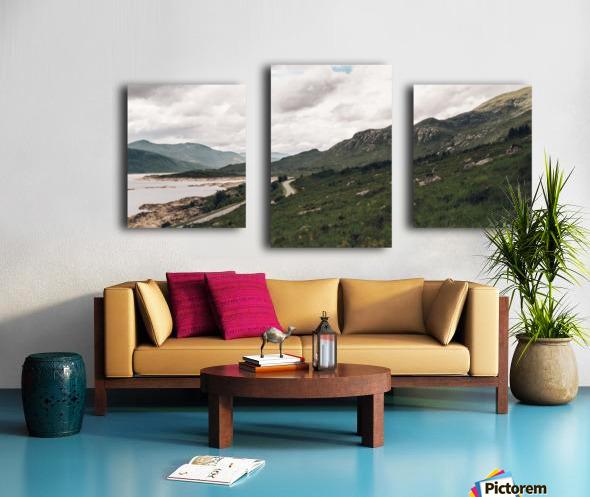 Rive de Loch Cluanie Impression sur toile