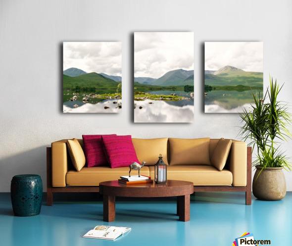 Lac Mirroir de Glencoe Impression sur toile