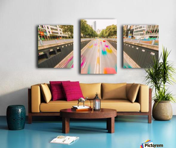 Bruxelles - Colorflow Impression sur toile