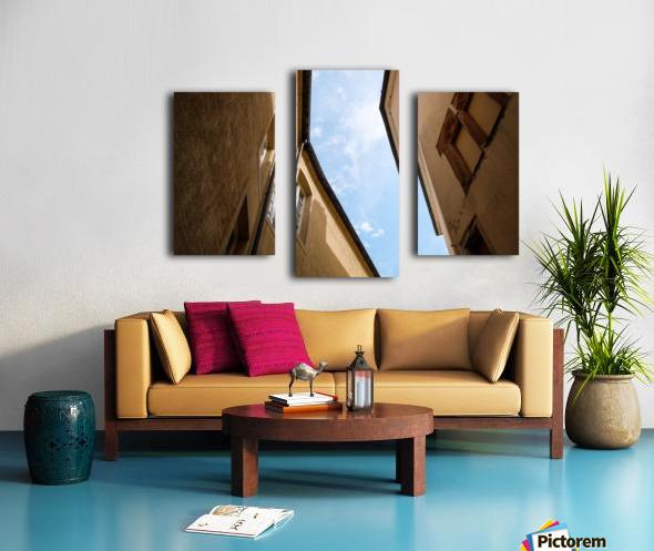 Ruelle de Luxembourg Impression sur toile