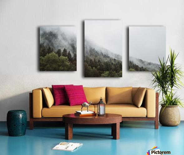 Brume de Montagne Impression sur toile