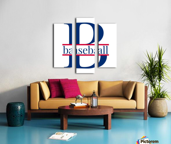 B is for Baseball  Canvas print