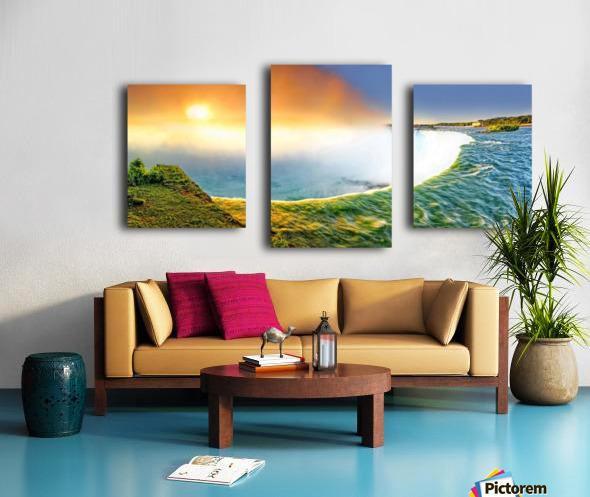 Sunrise at Niagara Falls Canvas print