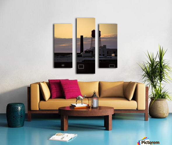 City Rooftops C Canvas print