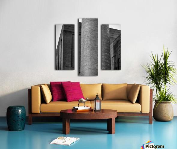 Bricks of Bailey BW Canvas print