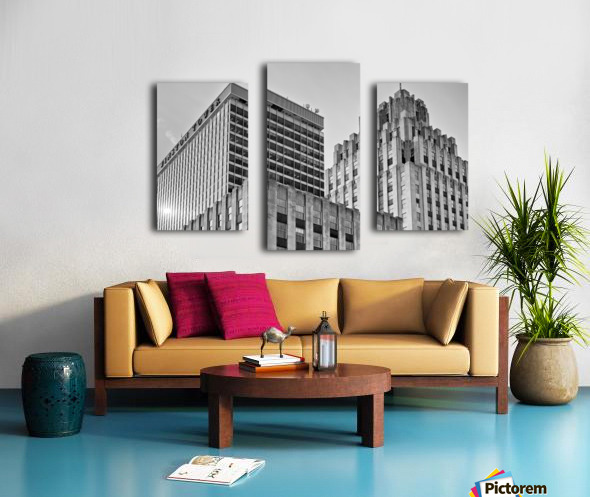 Winston Tower and Reynolds Building BW Canvas print