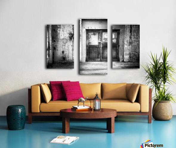 Power Plant Door 1 BW Canvas print
