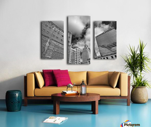 Winston Salem Builldings BW Canvas print