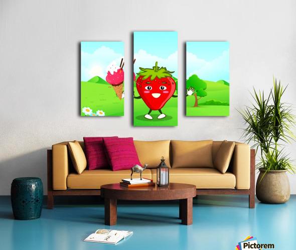 Strawberry Ice Cream_OSG Canvas print