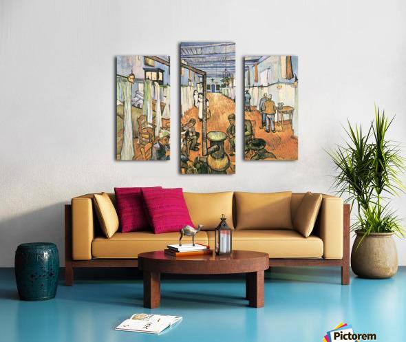 Dormitory in the Hospital in Arles by Van Gogh Canvas print