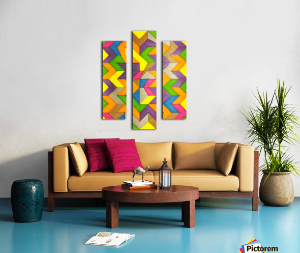 Patterned Lines of Color Canvas print