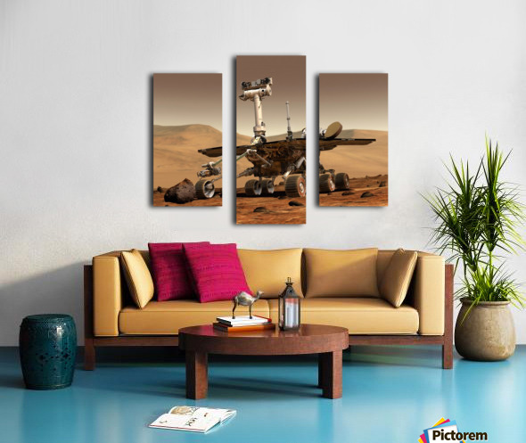 Artists Rendition of Mars Rover. Canvas print