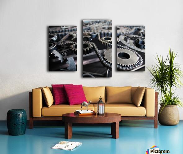 Cam chain Canvas print
