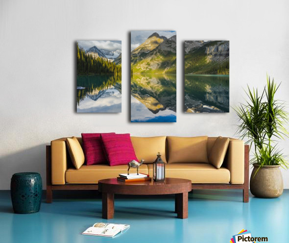 Upper elk lake  Canvas print