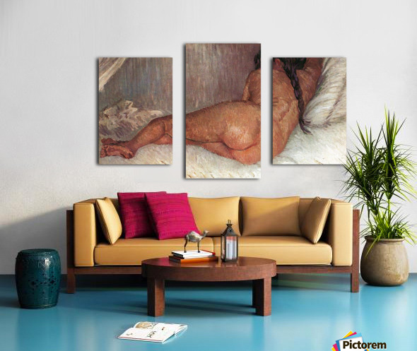 Female Nude by Van Gogh Canvas print