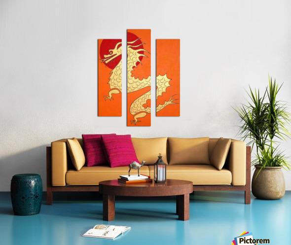 Asian Dragon Icon No.1 Canvas print