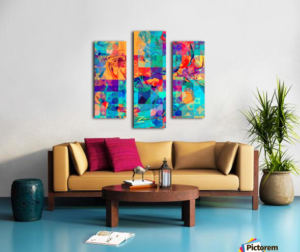 Geometric X Canvas print