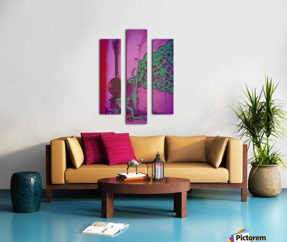 Altar to Unnamed Gods -- Purple & Verdigris Canvas print