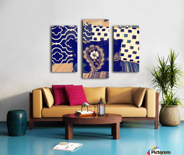 Three Pillows -- blue & brown Canvas print