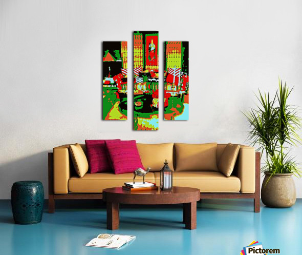 The Striped Sofa -- Red & Green Canvas print