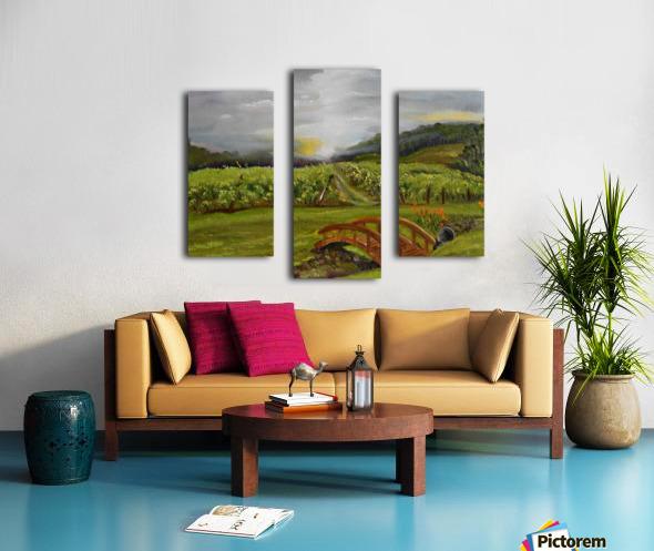 Sunshine Bridge at Cartecay Vineyard Canvas print