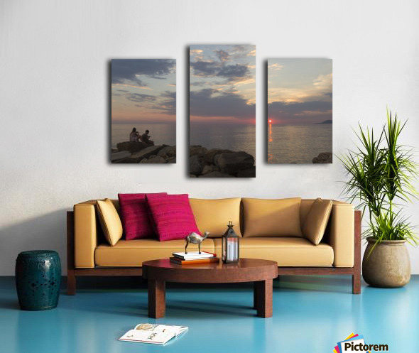 Sunset in Acciaroli Canvas print