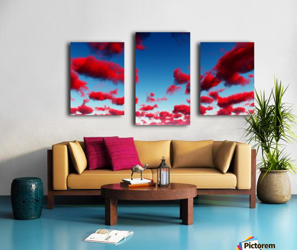 Deep Red Clouds Canvas print