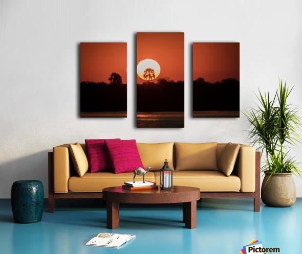 Sunset of Zimbabwe Canvas print