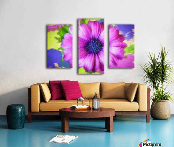 Purple Storm Canvas print