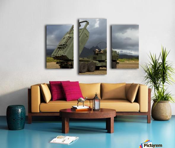 A M142 High Mobility Artillery Rocket System. Canvas print