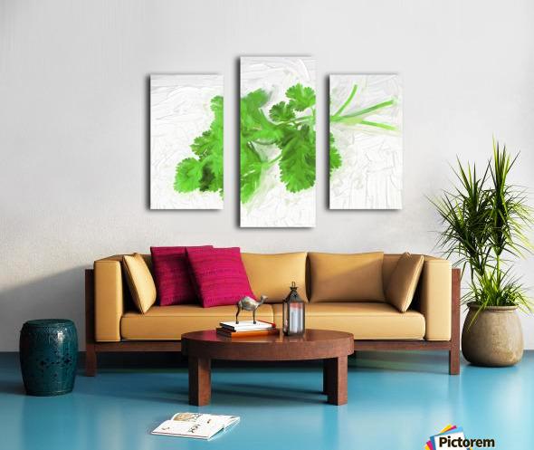 Cilantro Canvas print