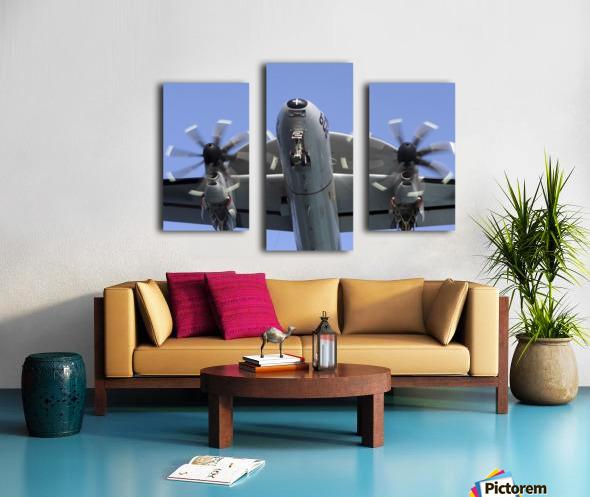 An E-2C Hawkeye prepares for landing. Canvas print