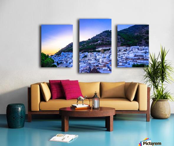 Sunset in Mijas Canvas print