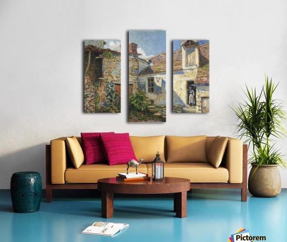 The Farmyard, Moret Canvas print