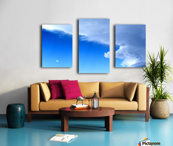 partly cloudy moon Canvas print