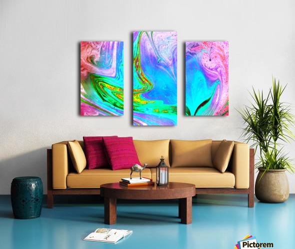 bubbles Reimagined 65 Canvas print