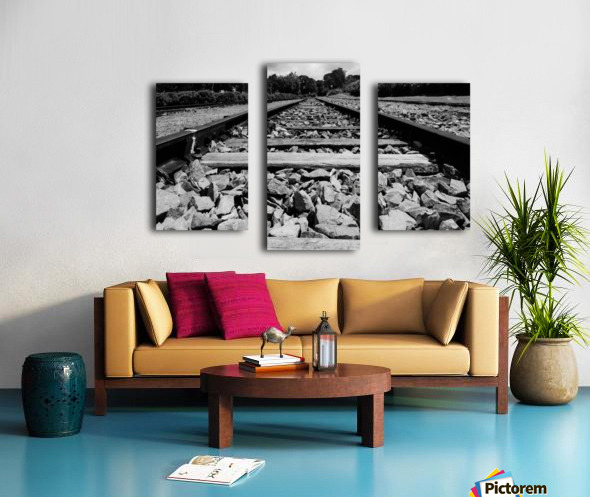 Rails to the future Canvas print
