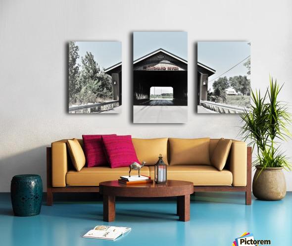 Blanchard Covered Bridge Canvas print