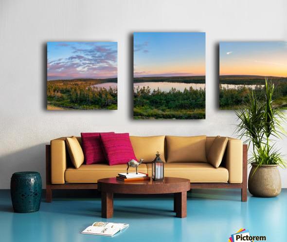 French Lake Sunset Canvas print