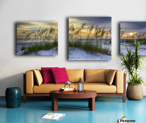 Sunset over Holmes Beach Canvas print
