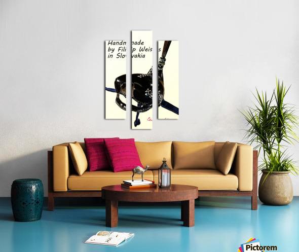 Black Leather Falcon hood Handmade in Slovakia by Filip Canvas print