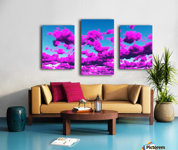 Vivid Purple Cloudscape Canvas print