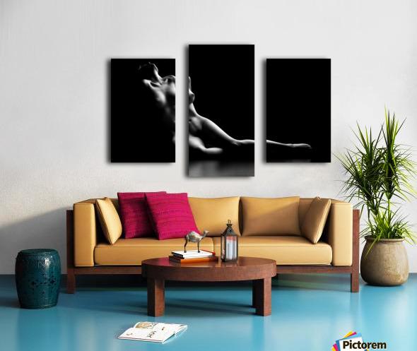 Nude woman bodyscape Canvas print