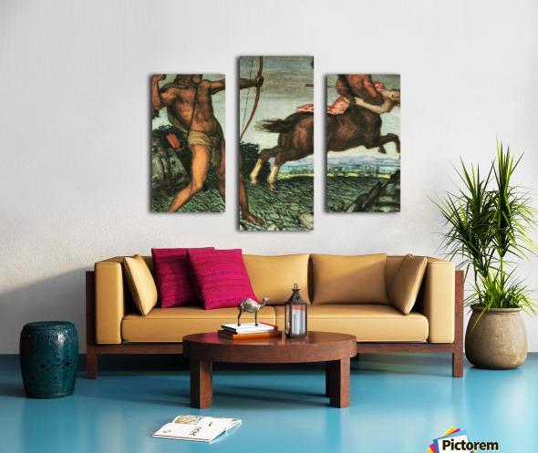 Hercules and Nessus by Franz von Stuck Canvas print