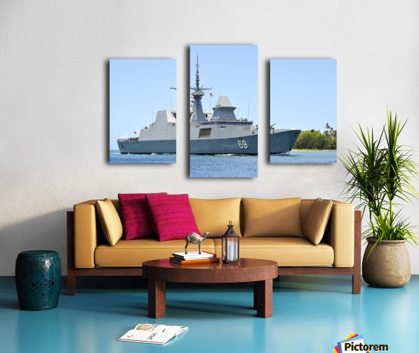 The Singapore frigate RSS Intrepid. Canvas print