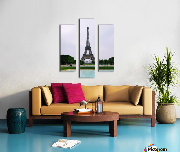 Eiffel from a distance Canvas print