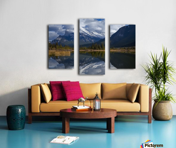 Mt. Rundle mirrors Canvas print
