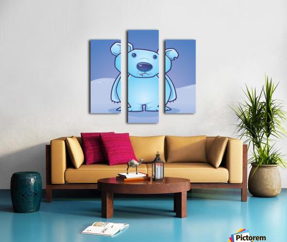 Polar Bear Cub Canvas print
