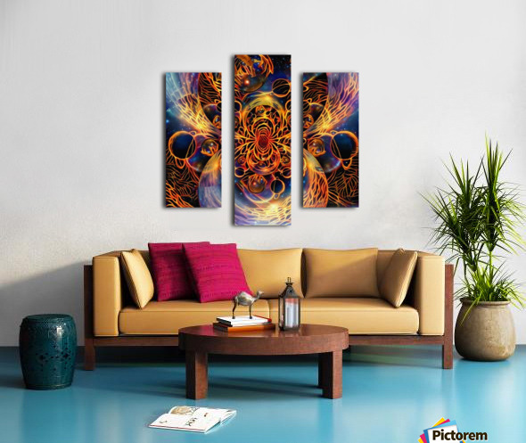 Colorful space Canvas print